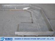 2cm countertop white pearl granite, precut kitchen countertop