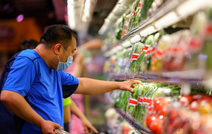 China's retail sales contract 1.1% y-o-y in July