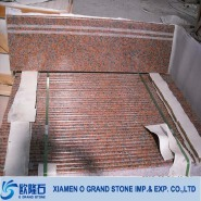 Maple Red G562 granite stair treads cover natural stone stair treads