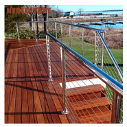 Prefabricated stainless steel cable railing systems match cable railing hardware and cable railing