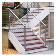 Factory supply balcony railing steel designs/cable railing stainless hardware