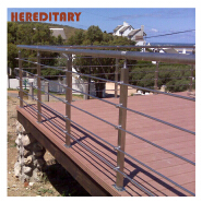 easy installation of the park pipe stainless steel balustrade and decorative metal railings