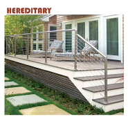 Low prices of stainless steel balcony pipe handrails wire cable railing