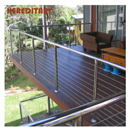 Hot design stainless steel wire railing with steel wire cable tensioner and wire rope fittings