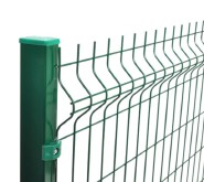 Rodent proof curved motorway Green PVC Coated Galvanized Welded Wire Mesh 3D Triangle Bend folding Fencing 2050*2500mm