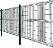Rodent proof curved motorway Green PVC Coated Galvanized Welded Wire Mesh 3D Triangle Bend folding Fencing 1630*2050