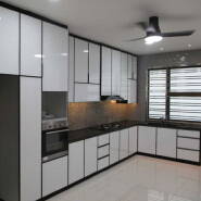 Metallic Acrylic Kitchen Cabinet door Modern Designs Hot Selling Modular Kitchen Cabinets Design