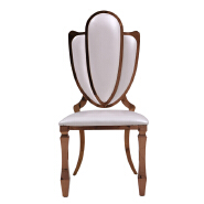 Modern industrial high back Banquet white Chair Luxury Living Room Furniture Metal Leg Dining Chair for wedding banquet