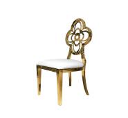 Modern industrial flower back Banquet white Chair Luxury Living Room Furniture Metal Leg Velvet Dining Chair for wedding banquet