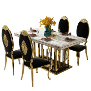 Hotsale industrial high back banquet white Chair Metal Leg PU Dining Chair for wedding banquet Luxury Living Room Furniture  16XHA-118