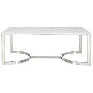Factory Direct Modern Design Luxury Vintage White Marble Tea End Centre Coffee Table for living room