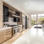 Modern upper fireproof white laminate kitchen cabinet design