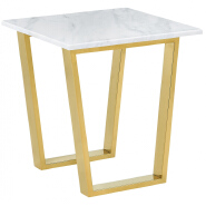 Factory Price luxury modern rectangle marble Top Metal Frame Side Tea Cafe Coffee Table living room furniture