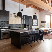 American modern grey shaker wood kitchen cabinet