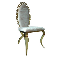 Hot sale factory high back banquet white Chair Metal Leg PU Dining Chair for wedding banquet Luxury Living Room Furniture  16XHA-121