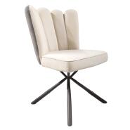 Hot Sales Modern Design Metal Leg Single Sofa Upholstered Armless Beige Velvet Dining Chair for Living Room Hotel Restaurant   20XHA-278