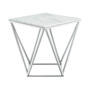 Factory direct modern luxury white marble desktop metal chassis tea table outdoor coffee table