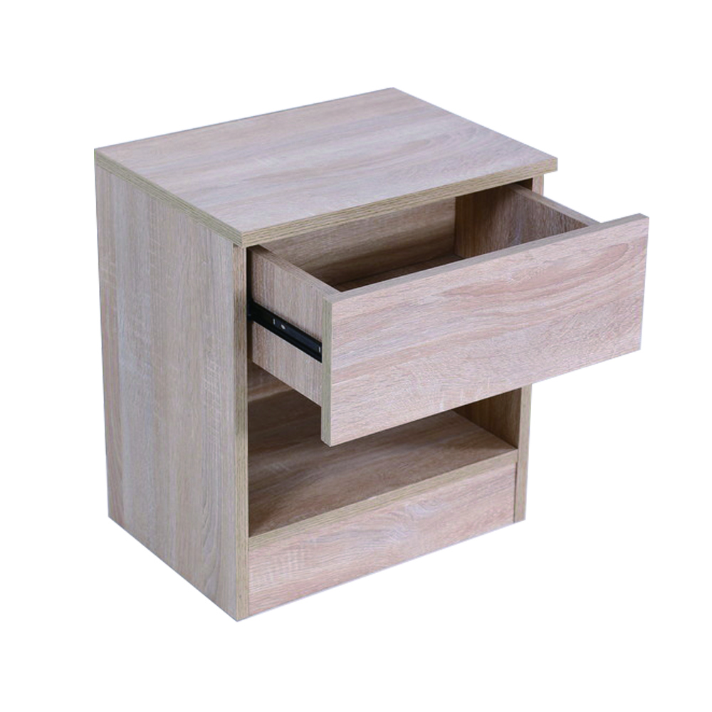 Wood Color With 1 Drawer Light Cabinet Bedside Table On Buildmost