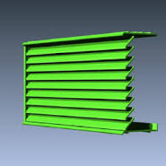 New Product Highest Level Fancy Design Aluminum Vent Louver WJ00214