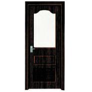 Hot Sell Promotional Best Quality Latest Design MDF door- modern flush design,glass door, interior door (PVD-131)