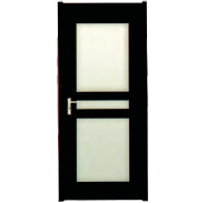 Brand New Quality Assured Latest Designs MDF door- modern flush design,glass door, interior door (PVD-025)