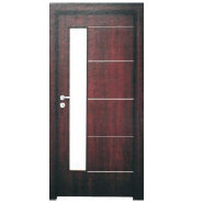 Newest Products Quick Lead Customize MDF door- modern flush design,glass door, interior door (PVD-097)