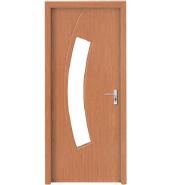 Hot Selling Good Quality Classic Design MDF door- modern flush design,glass door, interior door(PVD-086)