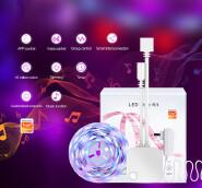 Banqcn smart RGB 5050 IP65 wifi music digital LED Strip Lights Kit 2M