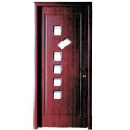 The Most Popular Export Quality OEM Design MDF door- modern flush design,glass door, interior door (PVD-082)