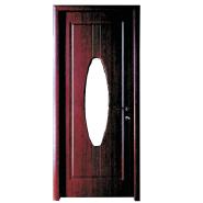 Hot New Products Top Class Custom MDF door- modern flush design,glass door, interior door(PVD-083)