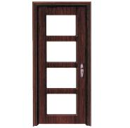 Hot Sell Hot Quality Fashionable Design MDF door- modern flush design,glass door, interior door(PVD-031)