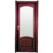 Top Selling Nice Quality Stylish Design MDF door- modern flush design,glass door, interior door(PVD-023)