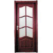 Hot Product Highest Quality Simple Style MDF door- modern flush design,glass door, interior door (PVD-021)