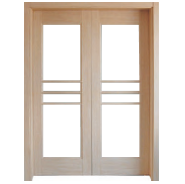 Promotional Quality Guaranteed Customized Design MDF door- modern flush design,glass door, interior door(PVD-054)