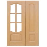 New Arrived Quick Lead Simple Design MDF door- modern flush design,glass door, interior door (PVD-053)