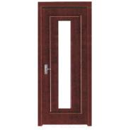 New Arrival Luxury Quality Best Design MDF door- modern flush design,glass door, interior door (PVD-121)