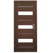 Professional Factory Supply Top Quality Custom Fitted MDF door- modern flush design,glass door, interior door (PVD-130)