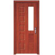 New Coming Highest Quality Personalized MDF door- modern flush design,glass door, interior door(PVD-033)