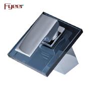 Fyeer Black Glass Disk Basin Waterfall Mixer Tap