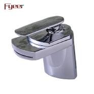 Fyeer High Quality Waterfall Single Handle Bathroom Basin Water Faucet