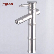 Fyeer Chromed Bamboo Water Faucet for Washbasin