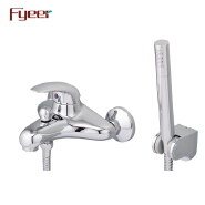 Fyeer Hot Sale Solid Brass Wall Mounted Bath and Shower Faucet with Diverter