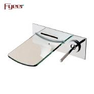 Fyeer Glass Spout Wall Mounted Tap Mixer Bathroom Bath Bathtub Faucet