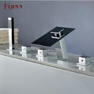 China Sanitary Ware Deck Mounted Hydraulic Led Bath&Shower Faucet Bathroom Bathtub Tap Mixer