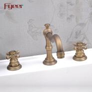 Fyeer Antique Brass Bath Faucet Bathroom Bathtub Bibcock Robinet