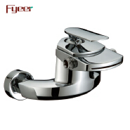 Fyeer High Quality Wall Mounted Waterfall Bath and Shower Faucet with Diverter