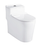 Low cistern water saving siphon one piece toilet Peeping Chinese toilet