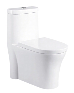Cheap one piece sanitary ware Peeping Chinese toilet siphonic toilet