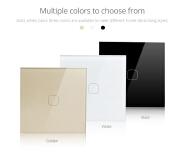 EU/UK/US Standard 1/2/3 Gang Wireless Touch Sensor Remote Control Wifi Smart Switch White/Black/Gold