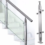stainless steel balustrade square balustrade frameless glass balustrade
